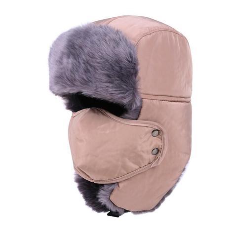 Winter Hat Bomber Hats For Men Women Thicken Balaclava Cotton Fur Winter Earflap Keep Warm Caps Russian Skull Mask Bomber Hats Multan
