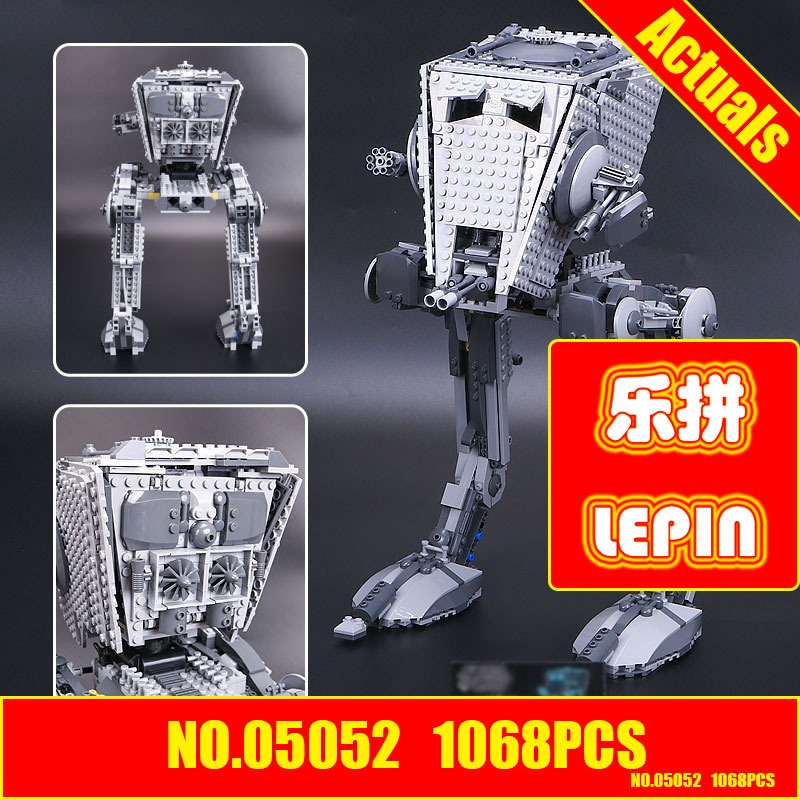 Lepin 05052 1068Pcs Star new Wars The Force Awakens AT-ST Walke Model Building Kit figures Blocks Brick Compatible Toy 75153 lepin 05035 star wars death star limited edition model building kit millenniums blocks puzzle compatible legoed 75159