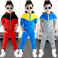 Spring autumn kids child tracksuits make up children clothing sets boys hooded jacket coats+pants  suit for girls