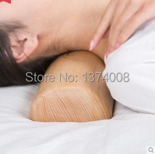 free shipping 1 pcs high grade beech wood pillow cervical disease treatment hard wooden pillows massage health neck nursing 2016
