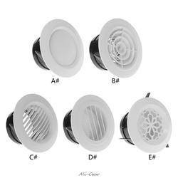 Вентиляционное отверстие экстракт клапан решетка круглый диффузор воздуховод вентиляционная Крышка 100 мм вентиляционное отверстие