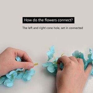 Image 5 - Wholesale 10pcs Rattan Strip Wisteria Artificial Flower Vine For Wedding Home Party Kids Room Decoration DIY Craft Fake Flowers