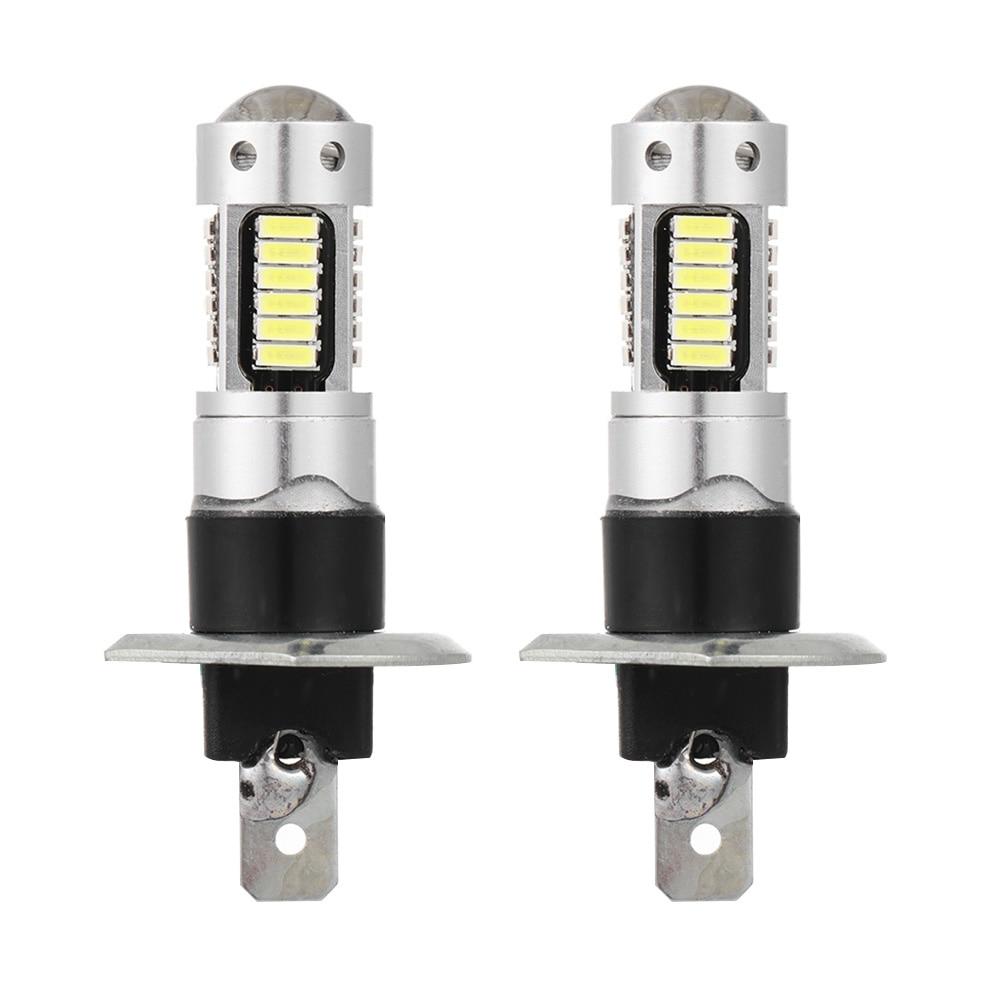 1 пара, работающего на постоянном токе 12 В в H1 4014 30 SMD 6500 к автомобиля светодиодный фар дальнего света Противотуманные лампы