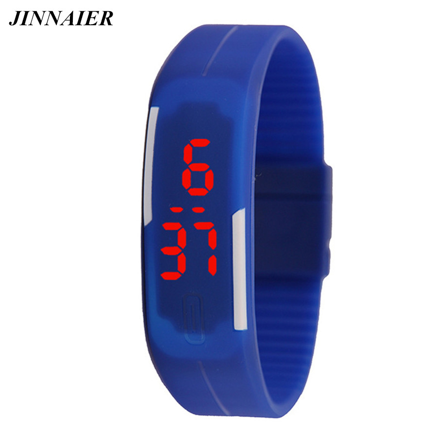10pcs/lot Wholesales Hot Sales Fashion Sports LED Electronic Silicone Women Men Christmas Watch LED Bracelet Jelly Wristwatch