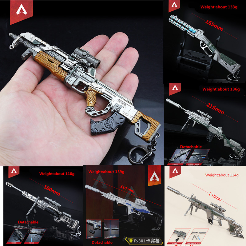 Official Website Hot Game Apex Legends Keychain Apex Vk-47 R-301 G7 Gun Model Cosplay Props Key Chain Llaveros For Fans Collection Free Shipping Skillful Manufacture Costume Props Novelty & Special Use