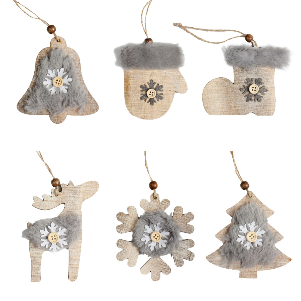 Hot Sale 1Set Xmas Tree Hanging Ornament Wooden Bell ...