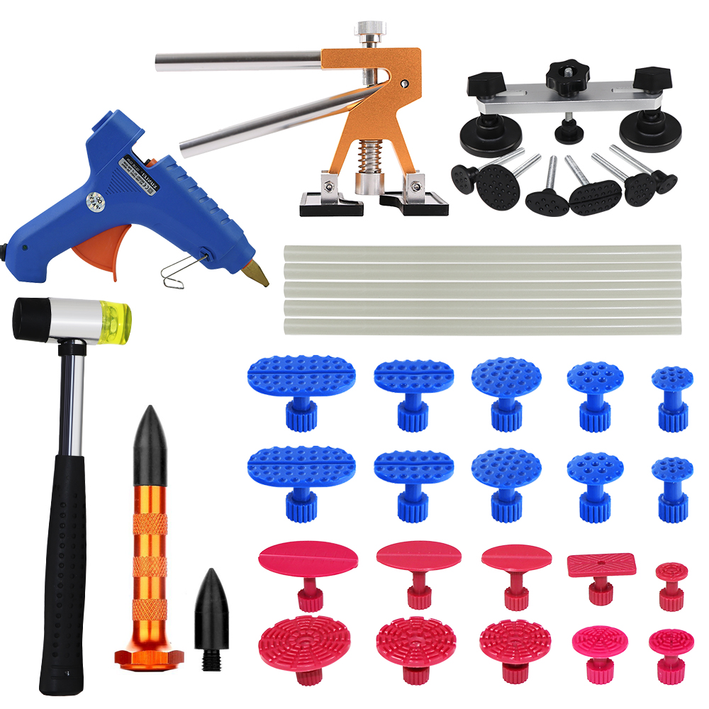 PDR Tools dent removal Tools paintless dent repair Tool set dent puller Hot Melt Glue Sticks Glue Gun Puller Tabs suction cup whdz pdr dent puller tabs dent lifter with glue gun 12v heat gun pdr hot melt glue sticks paintless dent repair tools hand tools