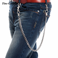 "28"" Long Silver Metal Biker Thick Wallet Chunky Key Chain Hip Hop Fashion Rock Cross Clasp Lion Link Jeans Waist Chain KB64"