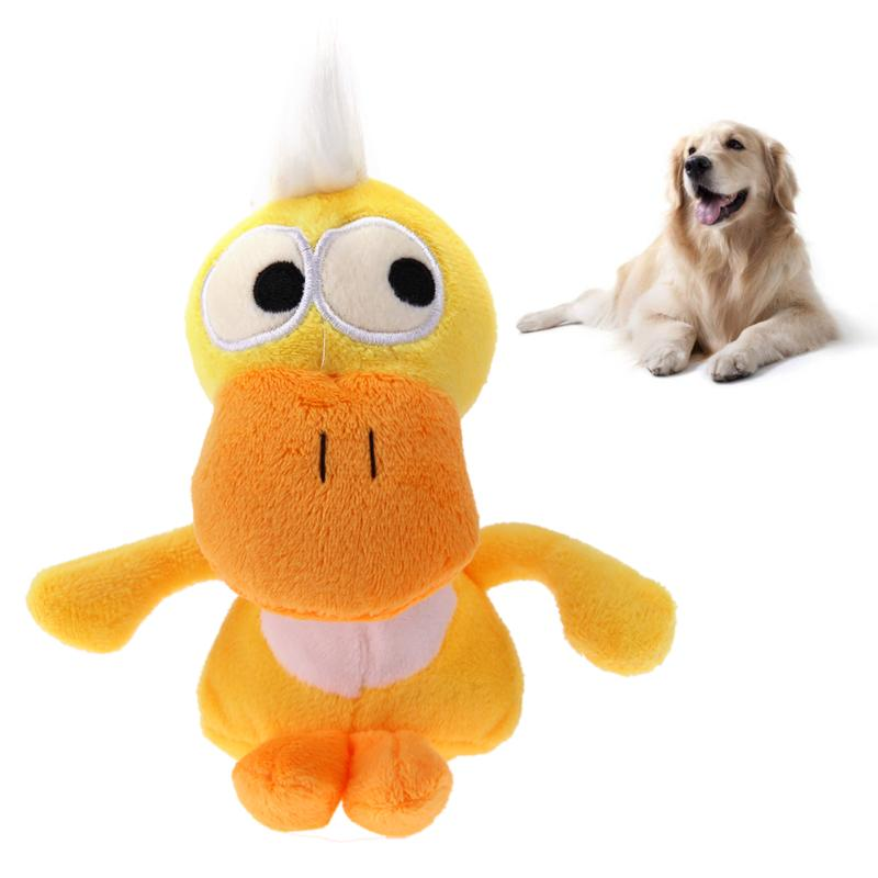 Cotton Plush Dog Toys Puppy Pet Chew Sound Squeaky Squeaker Duck Toys Funny Playing Animal Toys Dog Products