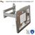 Seguro de montaje en pared soporte de exhibición para el ipad plegable retráctil brace holder especializados marco carcasa anti-robo de soporte de montaje en pared