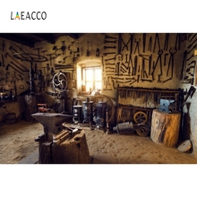 Laeacco Retro Wooden House Backdrops Repair Tools Customized Photography Background Photographic Backdrops For Photo Studio 100% hand painted pro dyed muslin backdrops for photography studio customized photographic background wedding backdrops 10x10ft