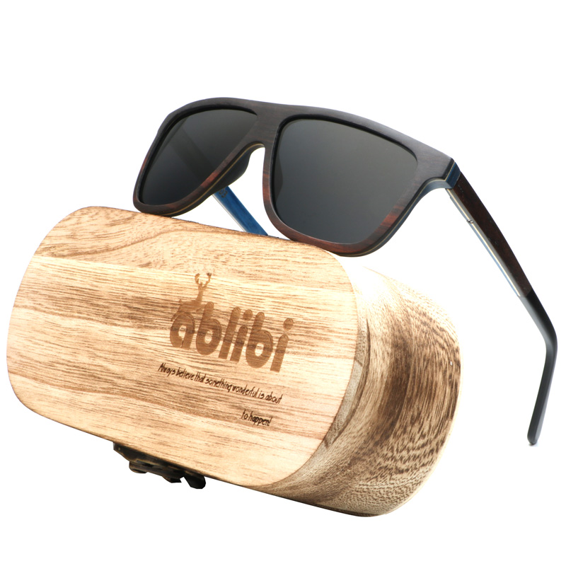 Ablibi New Fashion 2018 Sunglasses Polarized Skateboard Wood Shades for Men Womens Polarized Sunglasses in Wood Box