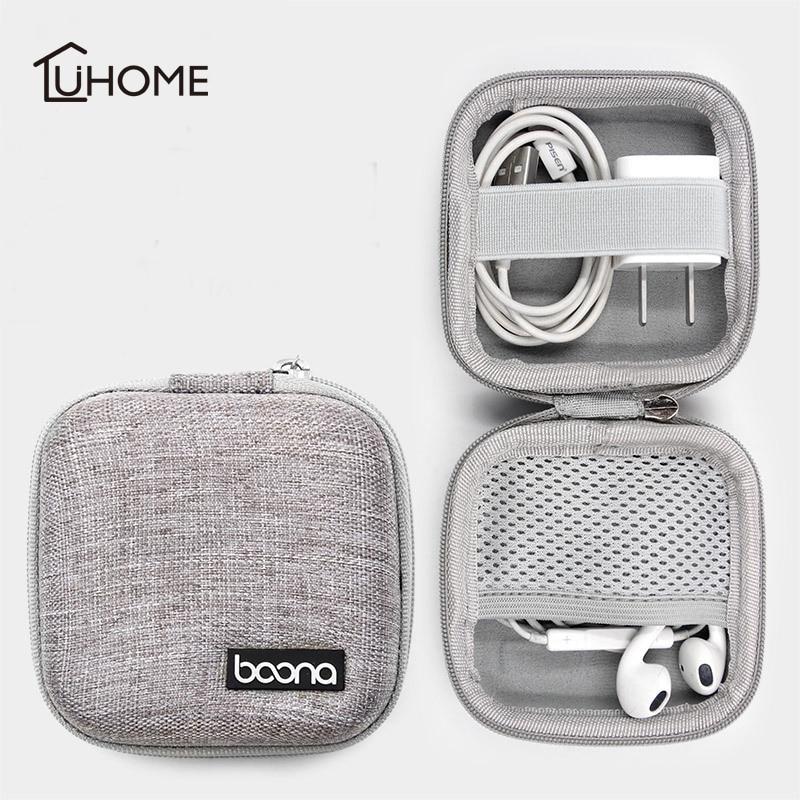 Mini Portable Storage Bag Case Cable Box Pouch Organizer For Earphone Headphone