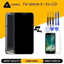 AAA + + OEM TFT OLED ekran iphone X XR XS XS MAX LCD ekran dokunmatik sayısallaştırıcı tertibatı yedek Tianma için iphone X LCD