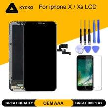 Aaa + + + oem tft oled display para iphone x xs xs max lcd tela de toque digitador assembléia substituição para tianma iphone x lcd
