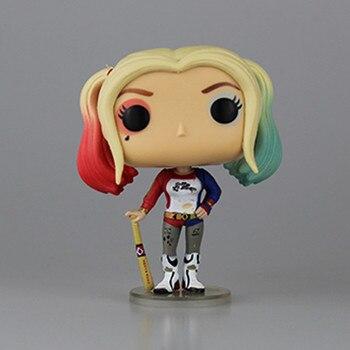 Caixa Original do Esquadrão Suicida Harley Quinn PVC 10 CM Figura de Ação de Super-heróis Coleção Modelo Harly Filme Brinquedos Dos Miúdos