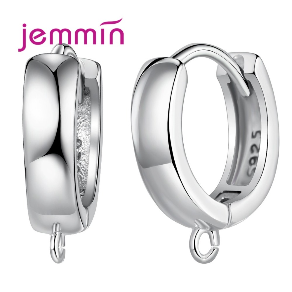S925 Stamped Fine Sterling Silver Hoop Earrings Components DIY Jewelry Accessory Top Quality Hook Ear Wires