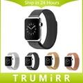 Нержавеющая Сталь Ремешок Для Часов 22 мм 24 мм Миланской Loop Магнитный Браслет Группа Ремешок для 38 мм 42 мм iWatch Apple Watch Sport Edition
