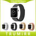 Correa de acero inoxidable 22mm 24mm milanese bucle banda magnética pulsera correa de 38mm 42mm iwatch apple watch sport edition
