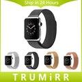 Pulseira de aço inoxidável 22mm 24mm milanese laço magnético pulseira banda strap para 38mm 42mm iwatch apple watch edição esporte