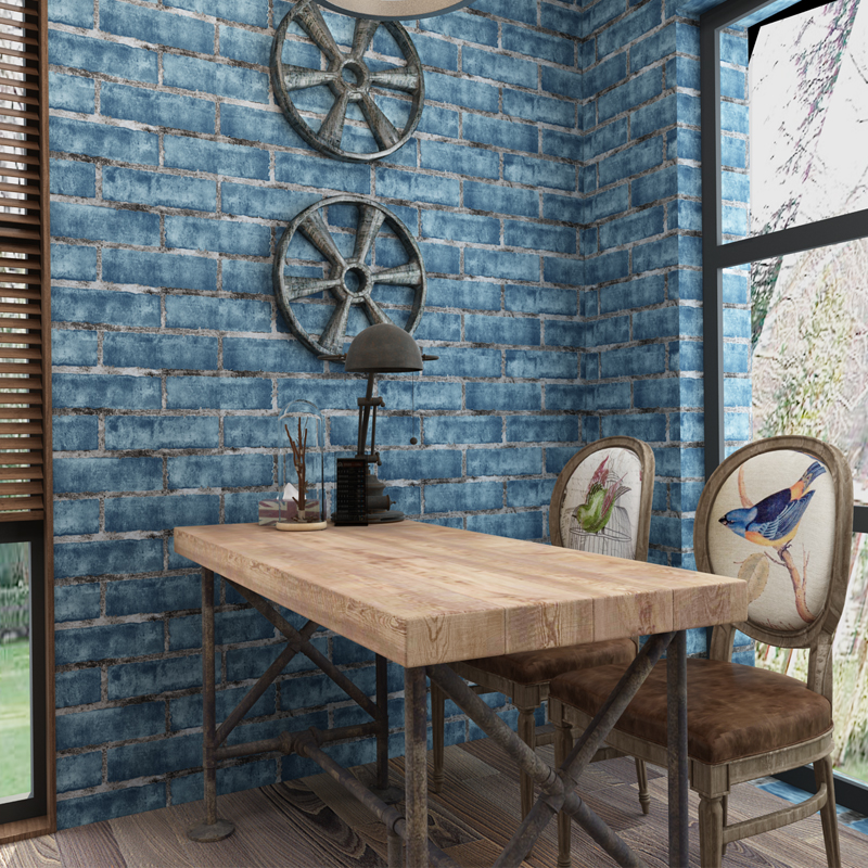3D Ziegel Tapete Design Stein Wand Papier Vinyl Vintage Wallpaper ...