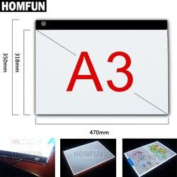 A3! Ультратонкий планшет с регулируемой яркостью A3, со светодиодной подсветкой, подходит для ЕС/Великобритании/Австралии/США/USB, алмазная выш...