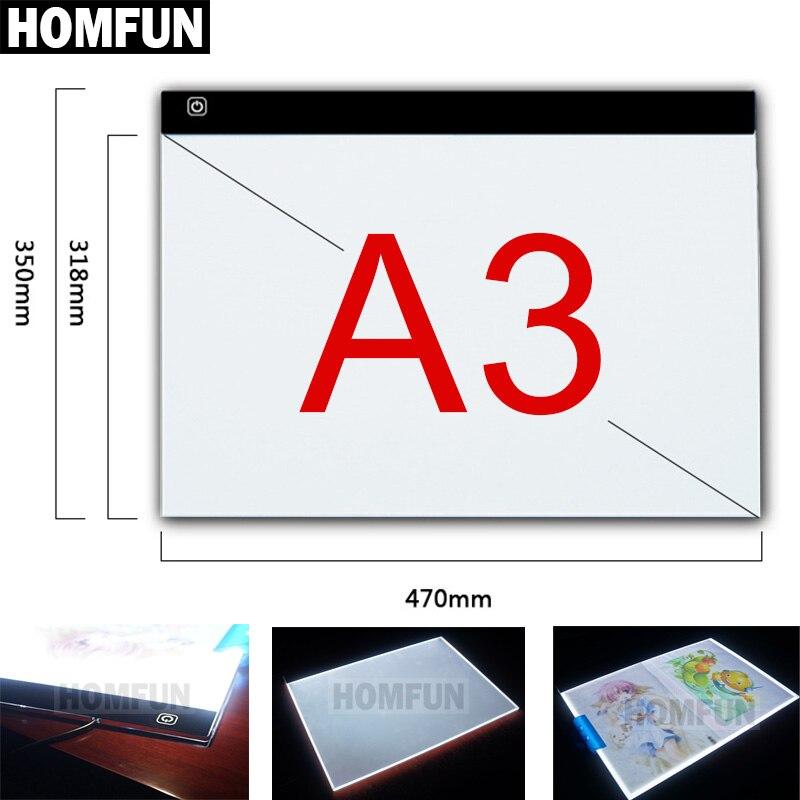 A3! Dimmable Ultra Mince A3 LED Lumière Tablet Pad S'appliquent à L'UE/ROYAUME-UNI/UA/US/USB Plug diamant Broderie Diamant Peinture Point De Croix