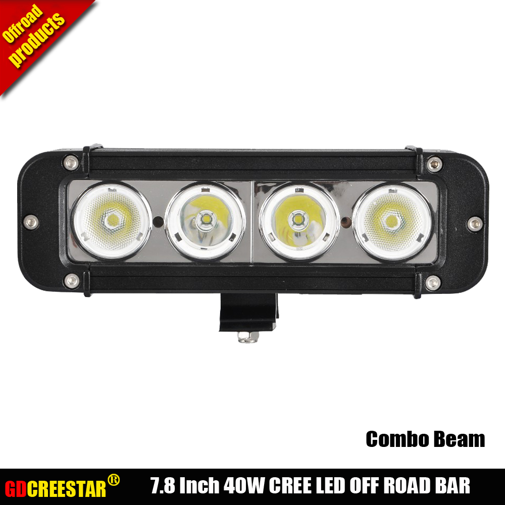 Bar <font><b>Led</b></font> <font><b>offroad</b></font> <font><b>lights</b></font> 8 inch 40W 4x4 <font><b>led</b></font> driving work <font><b>light</b></font> bar 10W Single Row <font><b>led</b></font> truck <font><b>car</b></font> Motorcycle <font><b>lights</b></font> x1pc freeship image