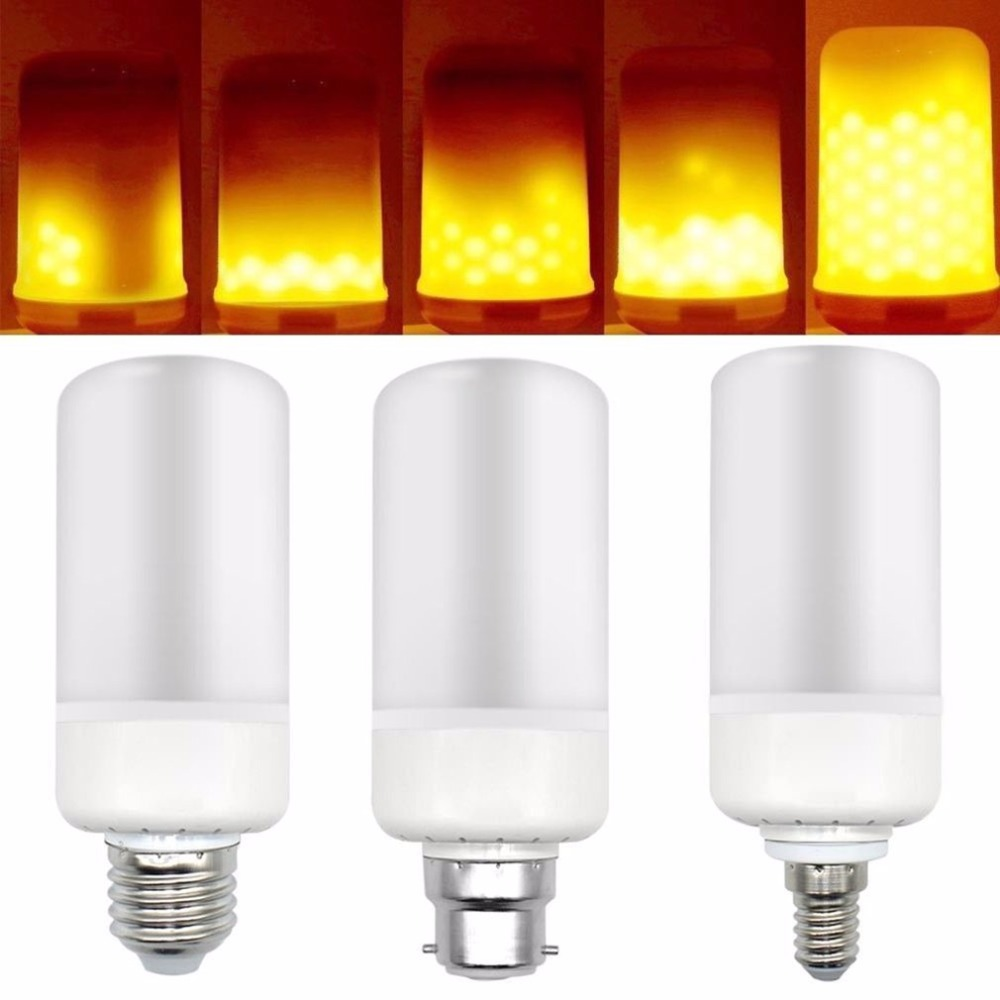 LED Flickering Flame Light 2835SMD 3 Modes Flameless Lights Bulbs Simulation Lamps Lighting for Home Party Bars Decoration