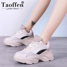 Taoffen New Women Vulcanized Shoes Casua