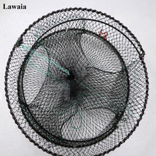 Lawaia Crab Cage Rubber Fly Fishing Net Folding Cast Lure Eel Trap Network