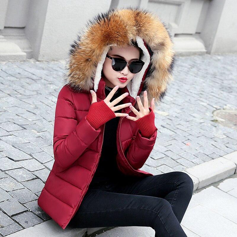 À Fourrure Raton Qualité Beige khaki Femmes noir bourgogne Grand Les Capuchon Vraie Col Parkas De Pour Manteau Veste Top Laveur Chaude Femelle D'hiver 2019 EIH2D9
