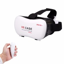 New wearable devices VR cardboard 3D glasses VR BOX Virtual Reality Glasses Headset for 4-6inch smartphone+bluetooth controller