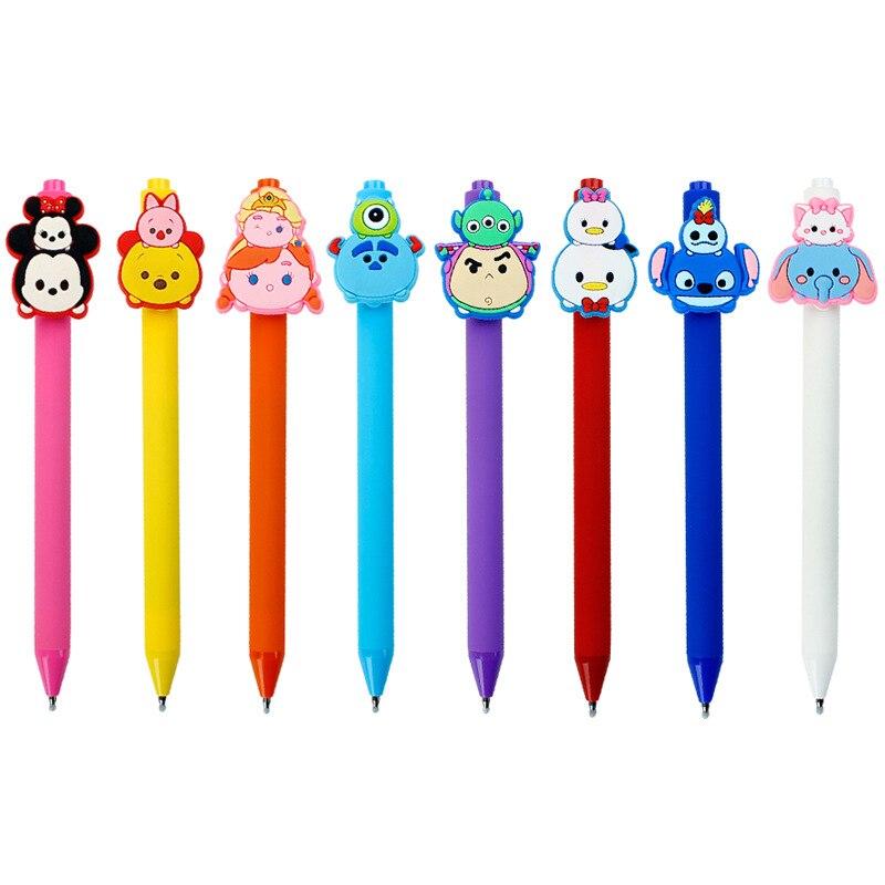 40 sztuk/partia cartoon kreatywny stitch mysz kaczka cukierki kolor matowy długopis długopis czarny atrament długopis żelowy studenci artykuły papiernicze w Długopisy reklamowe od Artykuły biurowe i szkolne na  Grupa 1