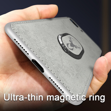Magnetic Finger Ring Holder Case For iphone 7 8 Plus Car Soft Cloth Silicone Original iphone7 iphone8