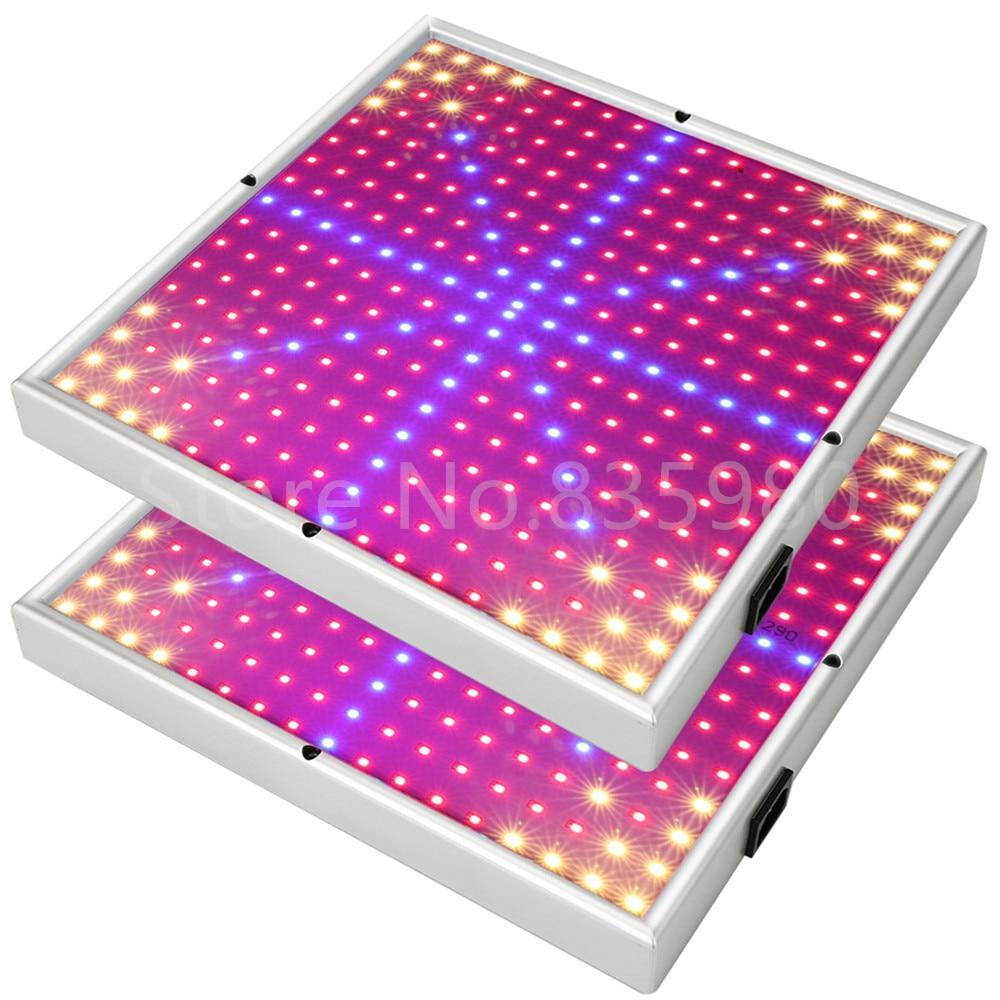 2X 30W LED Grow Light Panel Full Spectrum Indoor Plant Lamp For Plants Vegs Flower Hydroponic