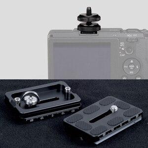 """Image 2 - Parafuso de montagem de tripé gaqou, tripé com 1/4 """"1/2"""" para câmera e montagem de sapato quente suporte leve de metal"""