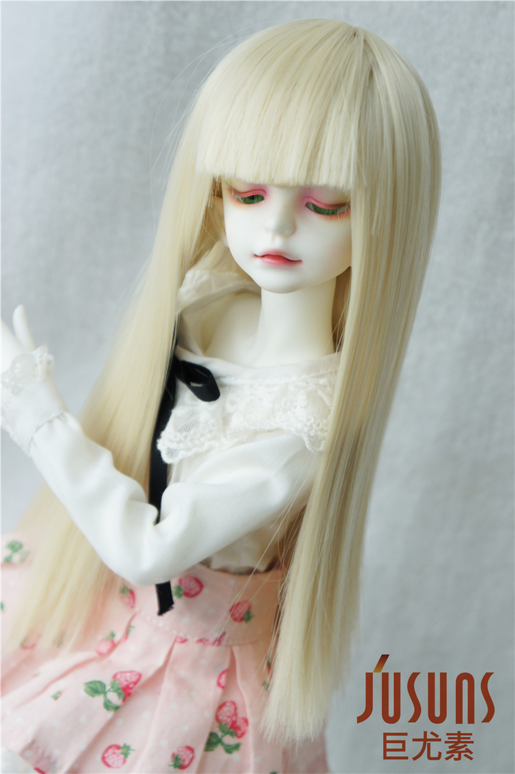 JD237 1/4 MSD Heat resistance BJD doll wigs  Full bangs Long straight wig  7-8inch doll accessories wowhot 1 4 bjd sd doll wigs for dolls high temperature wires short straight bangs fashion wig 1 6 1 3 for dolls accessories toy