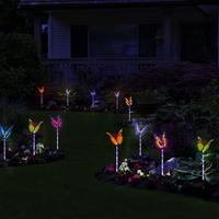 Garden Solar Light Outdoor Multi Color Changing Solar Powered LED Garden Lights Waterproof Butterfly Decorative Yard Lawn Lights