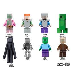 Minecraft игрушка 1 шт. фигурки героев с книги об оружии Стив Alex зомби Enderman модель мой мир игрушечные лошадки Развивающие игрушки для детей # ED