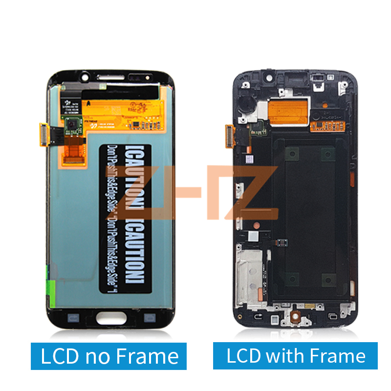 Image 2 - For Samsung Galaxy S6 Edge lcd display touch screen digitizer assembly G925 G925F SM G925F with frame replacement repair part