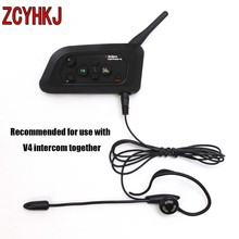 New Football Referee Headset Monaural Earhook Earphone Works with Vnetphone V4 Bluetooth Helmet Intercom car