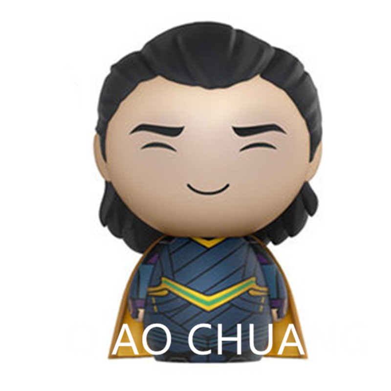 The Avengers 3: Part 1 Q Version Smile Baby Loki Supervillain Loki Laufeyson Dark Magic PVC Action Figure Bambola G1179