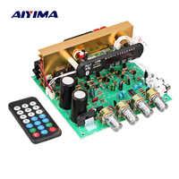 Placa de Amplificador AIYIMA Bluetooth 80 W 2,1 canal Subwoofer Amplificador de Audio con AUX FM TF U disco de cine en casa diy