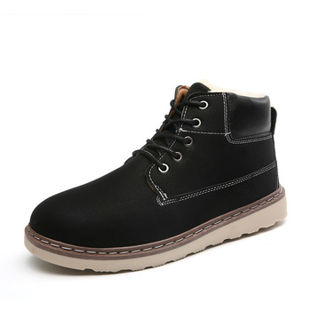 Winter Boots Work Shoes Men Winter Ankle Boots Lovers Casual Botas Winter Boots Men Warm Snow Boots Men Boots