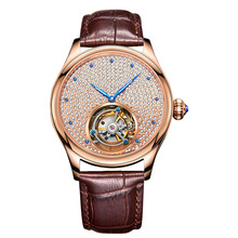 Original Brand Luxury High-End Automatic Mechanical Watches Tourbillon Hollow Precious Stones Inlaid Mens