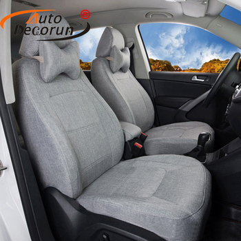 AutoDecorun Linen Fabric Covers Car Seat for Lexus NX300h NX200t NX200 NX300 Seat Cover Accessories for Cars Supports 16PCS/Set