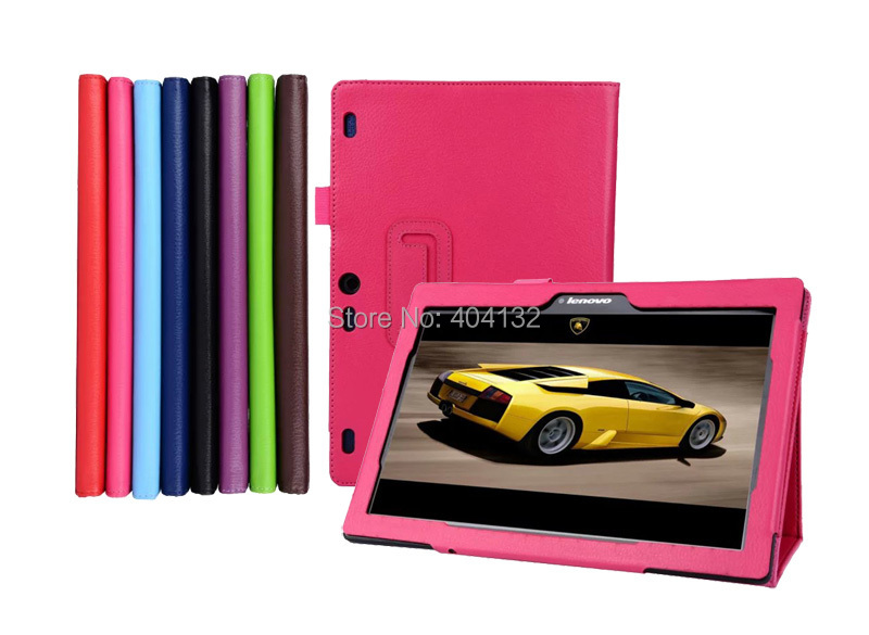 50PCS For Lenovo Tab 2 A10 70 Folio Cover Stand PU Leather Case Protector Skin For