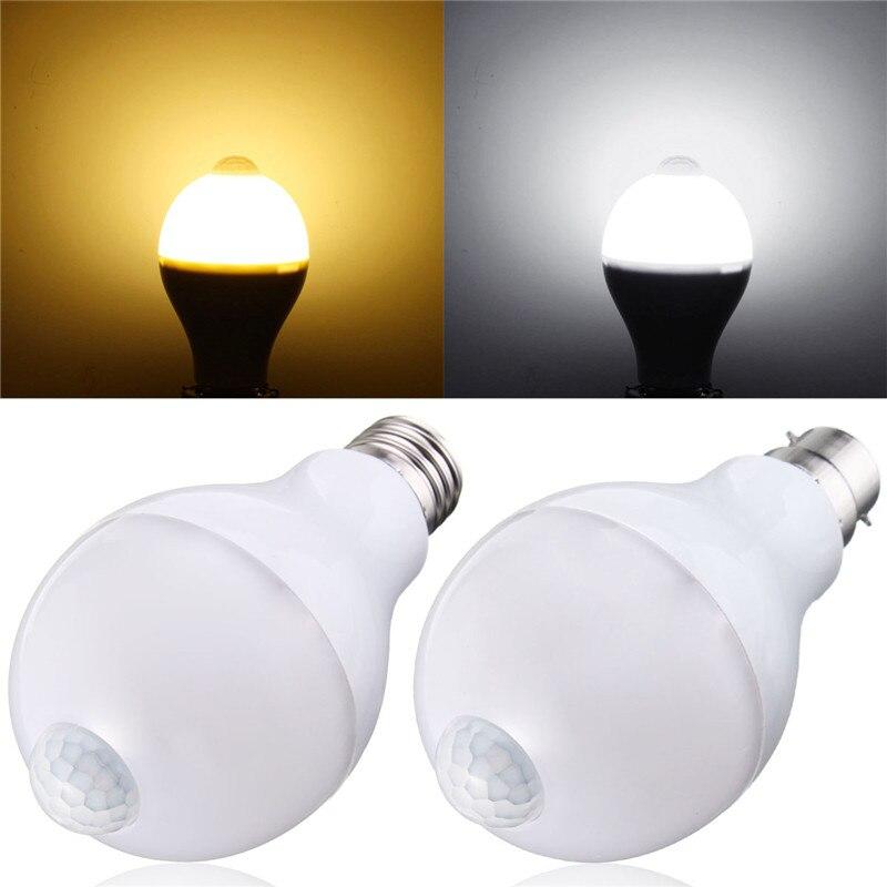 E27 B22 Motion Sensor LED Lamp Bulb 12W Smart PIR Sensor LED Light Bulbs Auto On/Off Night Lighting AC 85~265V eco cat led pir motion sensor bulb warm cold 220v 5w 7w 9w 12w induction light auto led lighting e27 infrared body sensor lamp