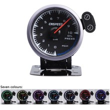 цена на CNSPEED Shark style 12V 2019 NEW Oil Pressure Gauge Oil Press For Honda Auto Gauge Car Meter With Sensor 2.5 60mm Universal